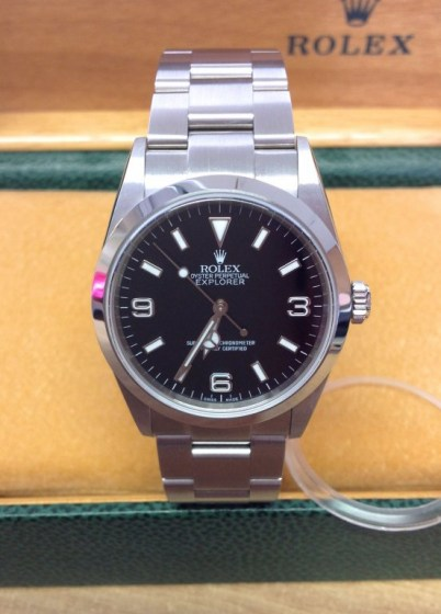 Rolex replica Explorer I 114270 36mm Black Dial2