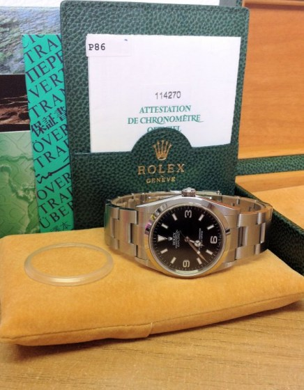 Rolex replica Explorer I 114270 36mm Black Dial3