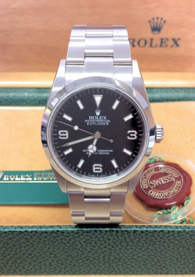 Rolex replica Explorer I 114270 36mm Black Dial4
