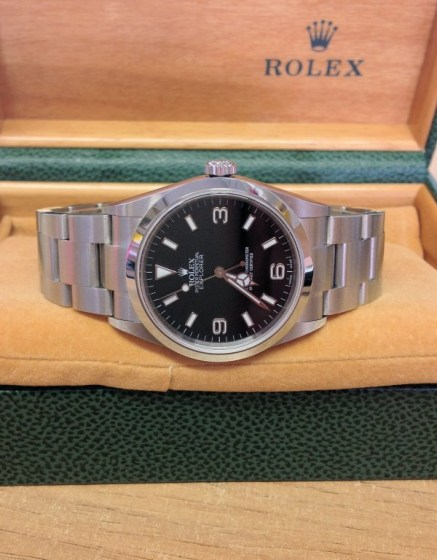 Rolex replica Explorer I 114270 36mm Black Dial5