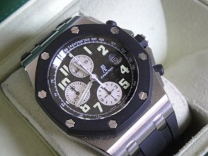 audemars piguet replica royal oak offshore gommino acciaio black dial4